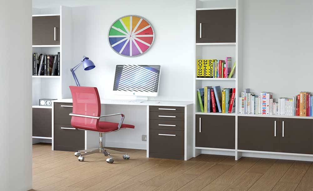 CROWN Zeluso Black_GreyDark fitted office and desk